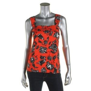Vince Camuto Red Floral Sleeveless Tank Top S